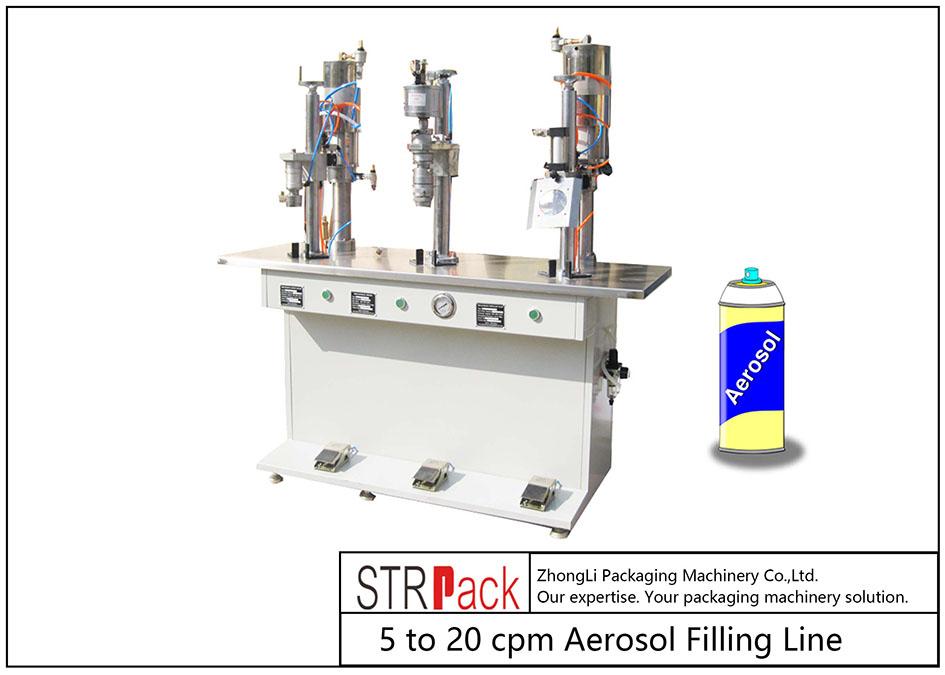 Mesin Pengisian Aerosol Semi-automatik