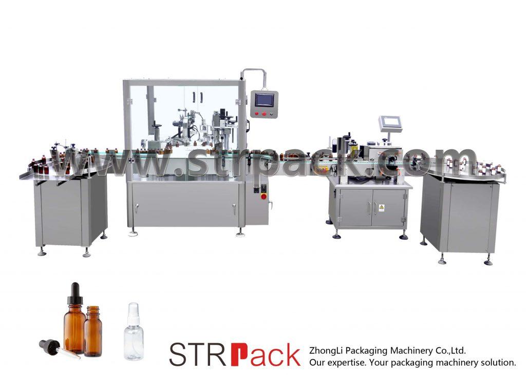 Mesin Pengisian dan Penutup Botol Penitis Automatik